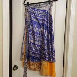 Dresses & Skirts - Reversible upcycled saris skirt